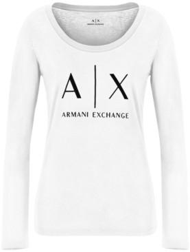 Armani Exchange Logo Long-Sleeve T-Shirt