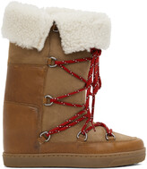 Thumbnail for your product : Isabel Marant Brown Shearling Nowly Boots