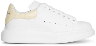 Alexander McQueen Classic croco print cream sneakers