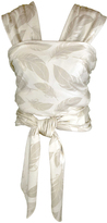 Ivory & Gray Feathers Organic Cotton Baby Wrap Carrier