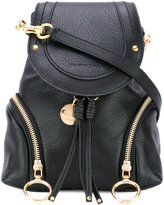 See by Chloe fold over backpack - women - Cotton/Calf Leather - One Size