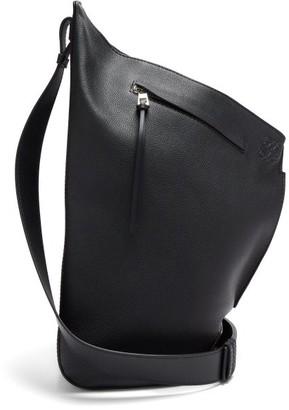 Loewe Anton Small Grained-leather Backpack - Black