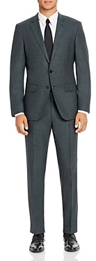 BOSS Huge/Genius Micro Check Slim Fit Suit