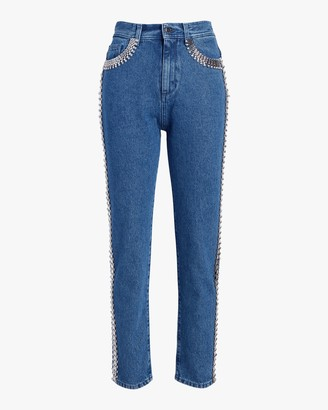 Christopher Kane Crystal-Chain Skinny Jeans