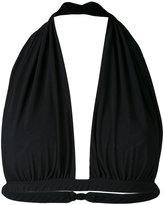 Norma Kamali gathered bikini top