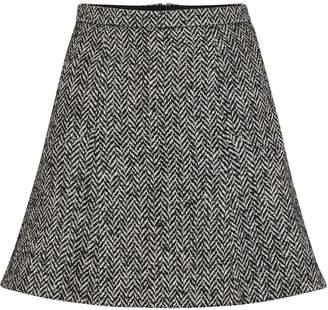 RED Valentino Herringbone mini skirt