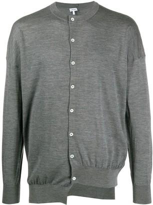 Loewe Asymmetric Button-Up Cardigan
