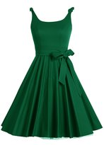 Bbonlinedress Women's 1950's Vintage Retro Bowknot Polka Dot Rockabilly Swing Dress 3XL