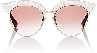 Gucci Women's GG0212S Sunglasses - White W, pearls