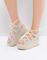 Pull&Bear Gray Espadrille Wedge