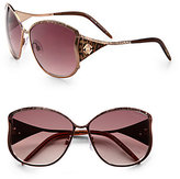 Roberto Cavalli Mughetto Oversized Contoured Metal Sunglasses