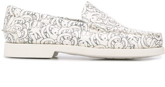 Societe Anonyme x Sebago graphic print low heel loafers