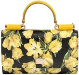 Dolce & Gabbana Tulips Printed Leather Phone Clutch
