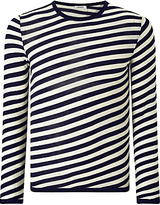 J. Lindeberg Camden Merino Wool Stripe Jumper, Navy/white