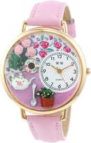 Whimsical Watches Women's G1210011 Tea Roses Pink Leather Watch