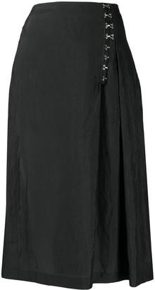 McQ A-line midi skirt