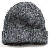 Todd Snyder Ribbed Knit Hat in Charcoal
