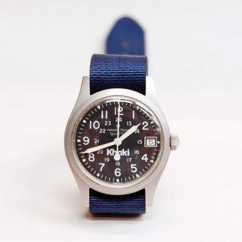"Blade + Blue Vintage Hamilton ""Khaki"" Military Field Watch"