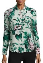 Burberry Aster Floral Blouse