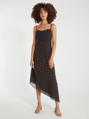 C/Meo Palatial Asymmetrical Midi Slip Dress