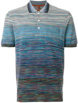Missoni gradient stripe polo shirt