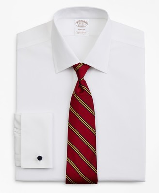 Brooks Brothers Stretch Soho Extra-Slim-Fit Dress Shirt, Non-Iron Pinpoint Ainsley Collar French Cuff