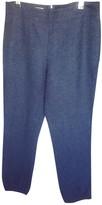 Saint Laurent Navy Wool Trousers