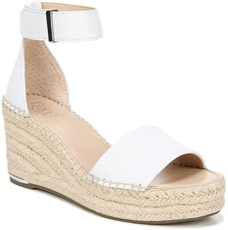 Franco Sarto Leather Espadrille Wedge Sandals -Clemens