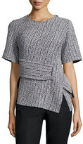 3.1 Phillip Lim Paneled Braided Jacquard Tee, Platinum