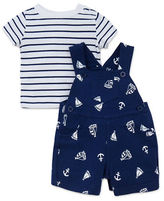 Little Me Two-Piece Nautical Shortall and Tee Set