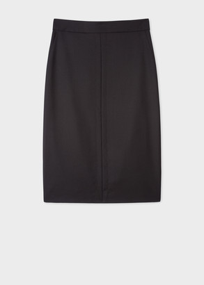 Paul Smith Women's Black Midi 'A Skirt To Travel In'
