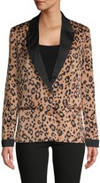 Lucca Leopard-Print Blazer