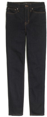 "J.Crew Petite 9"" high-rise skinny jean in rinse wash"