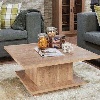 Ebern Designs Dossett Contemporary Square Wooden Coffee Table with Storage