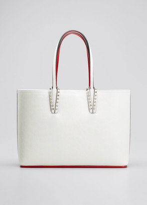 Christian Louboutin Cabata Small Calf Leopard 50s Red Sole Tote Bag