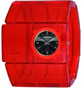 Vestal Women's RSA015 Rosewood Red Acetate Bangle Watch
