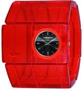Vestal Women's RSA015 Rosewood Red Acetate Bangle Watch