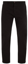 MAISON KITSUNÉ Straight-leg cotton chino trousers