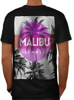 Malibu Summer Sun Holiday Men XXXL T-shirt Back | Wellcoda