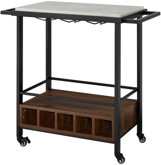 Hewson Rolling Bar Drink Cart