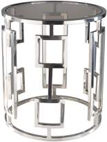 Surya Squire Stainless Steel Side Table
