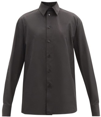 Jil Sander Point-collar Cotton-poplin Shirt - Black