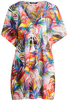 Ralph Lauren Palm-Print Cotton Cover-Up
