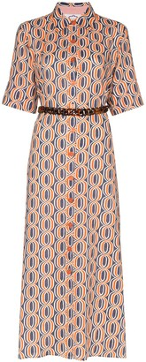 Evi Grintela Tangier printed maxi shirt dress