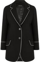 Gucci Silk-trimmed Wool-twill Blazer - Black