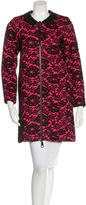 Milly Lace Leather Trimmed Coat w/ Tags