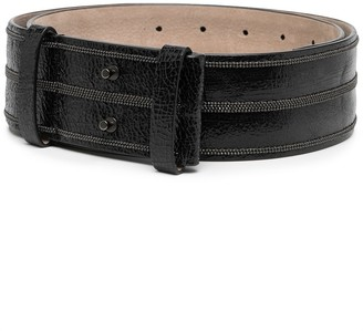 Brunello Cucinelli Cracked Waist Belt