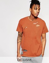 Reclaimed Vintage Oversized T-shirt With Distressing
