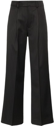 Ader Error Pinstripe Flared Trousers