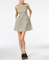 Love Moschino Daisy-Print Mini Fit & Flare Dress